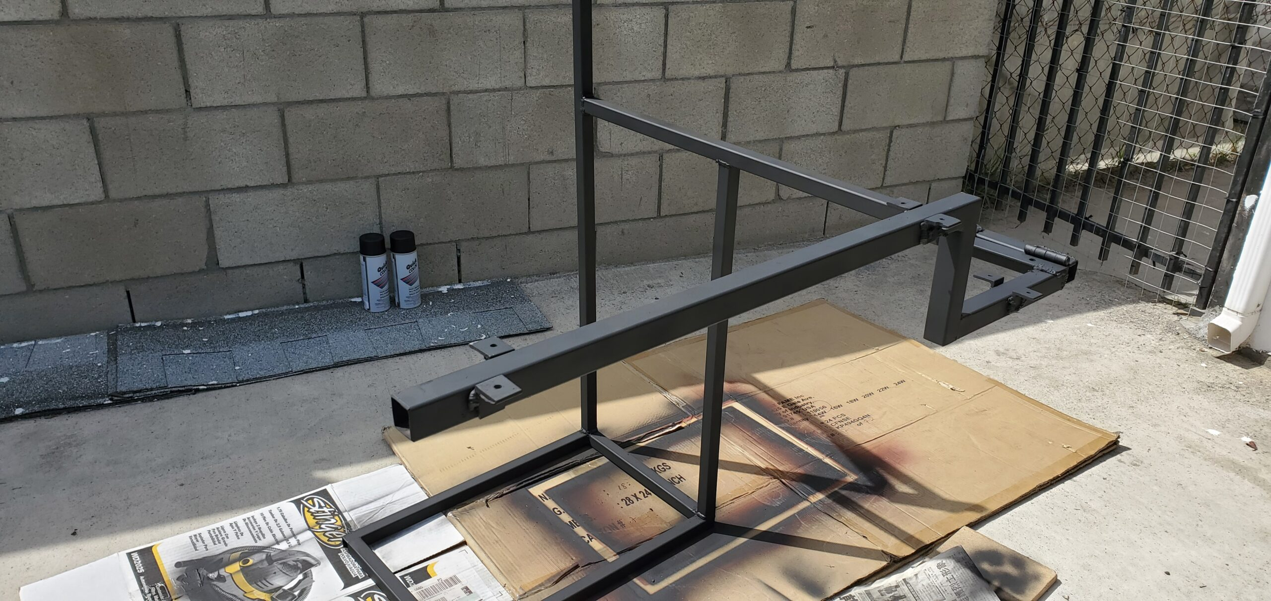 bed desk frame paint with attachments