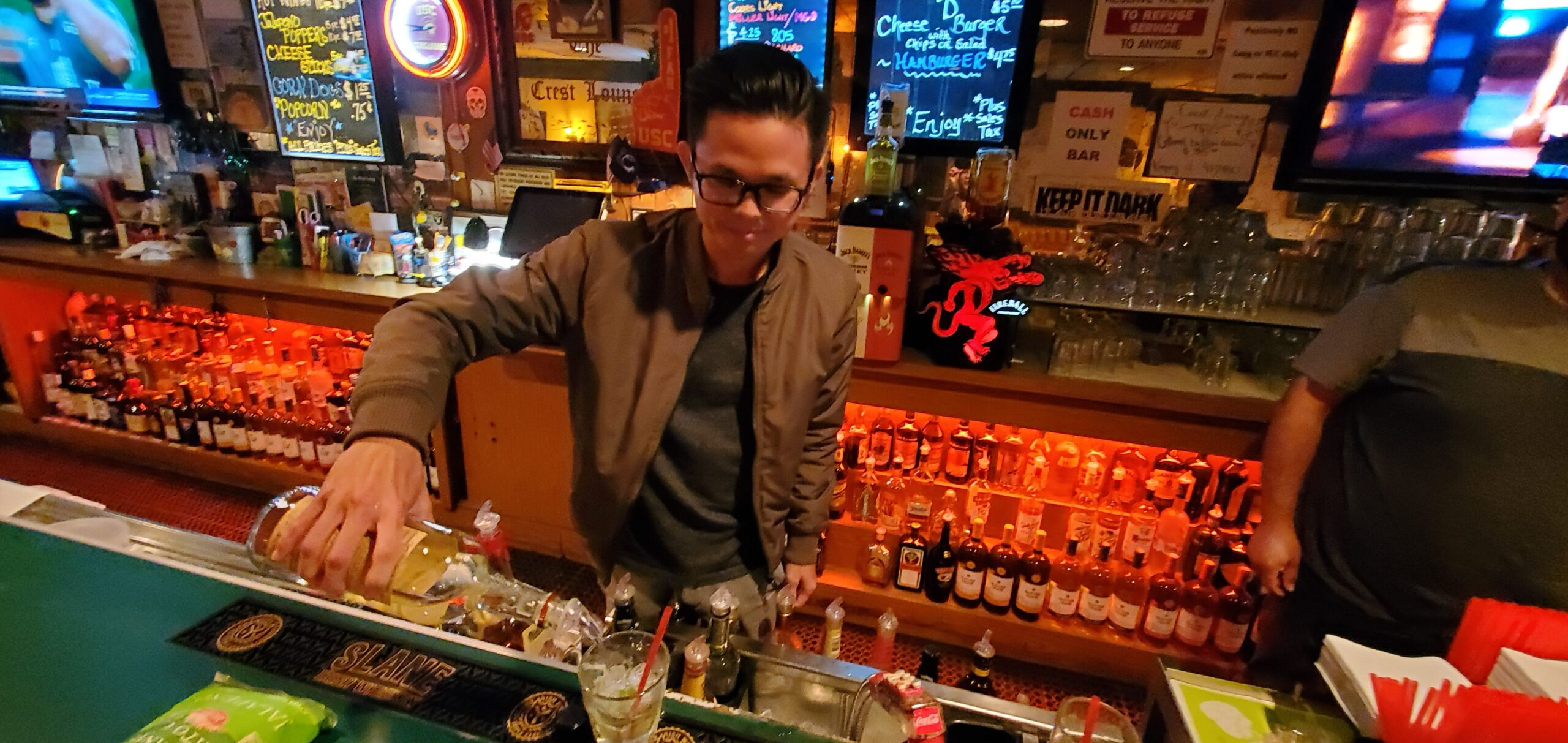 hao behind the bar